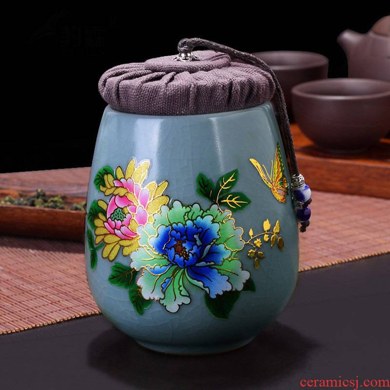Hui shi elder brother up your up POTS sealed box small caddy fixings pu 'er tea household ceramics storage tanks