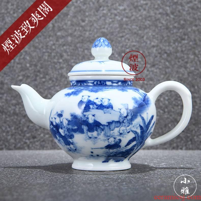 Jingdezhen ancient jun made baby play lesser RuanDingRong officer hat pot teapot CiHu lesser model
