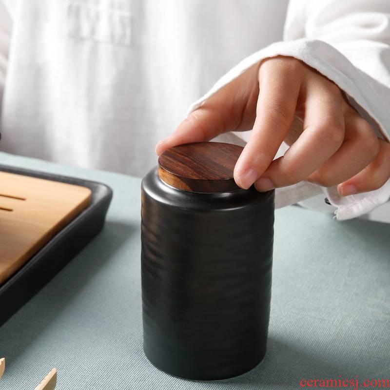 Qiao mu ceramic household utensils portable pu - erh tea storage box storage tanks seal pot small caddy fixings