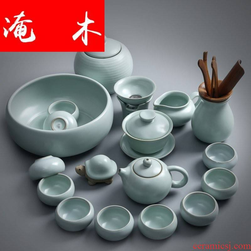 Open the slice flooded your up of wood tea set suits for your porcelain kung fu tea sets of household ceramics tureen of a complete set of tea cups teapot