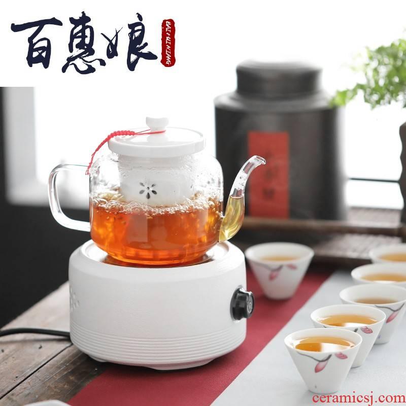 (niang boiling tea ware glass tea stove steam cooked pu - erh tea, black tea, white tea teapot tea steamer TaoLu household electricity