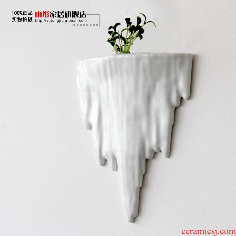 Rain tong home | checking porcelain of jingdezhen ceramics space hanging furnishing articles rockery wall act the role ofing household porcelain