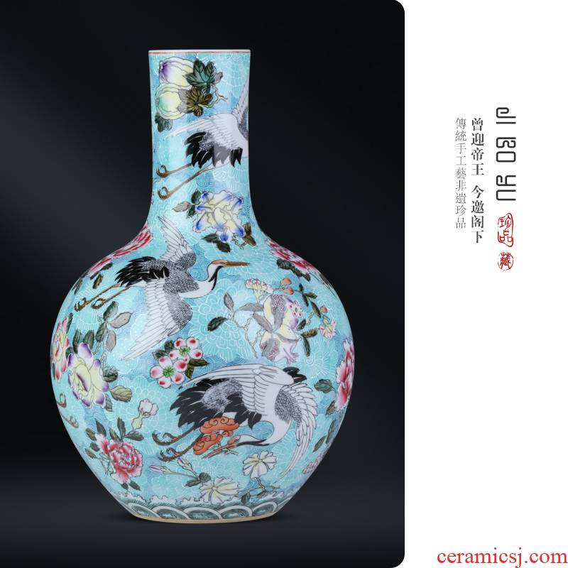 Jingdezhen ceramic antique hand - made gathers up little fairy cranes tree sitting room porch study Chinese style decoration as furnishing articles
