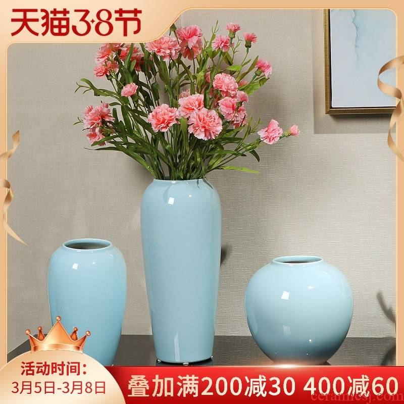 Jingdezhen ceramic vase furnishing articles of new Chinese style flower implement simulation flower flower I and contracted decorate the sitting room is small and pure and fresh