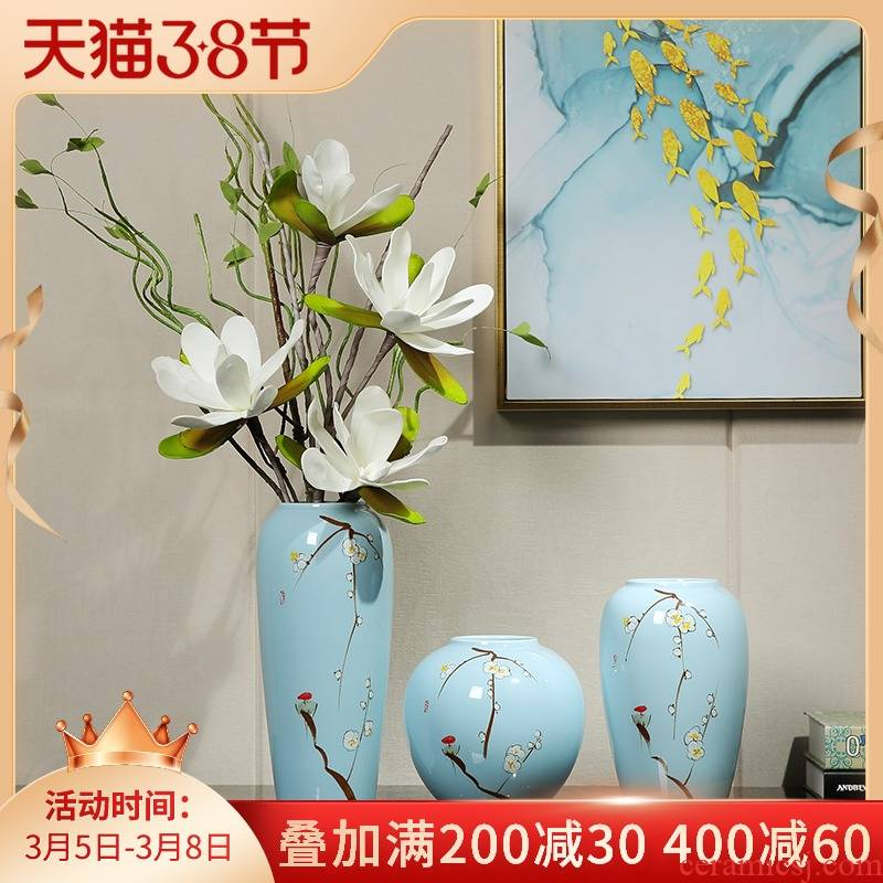 Jingdezhen ceramic vase furnishing articles of modern living room table dry flower arranging flowers, TV ark, contracted household soft adornment