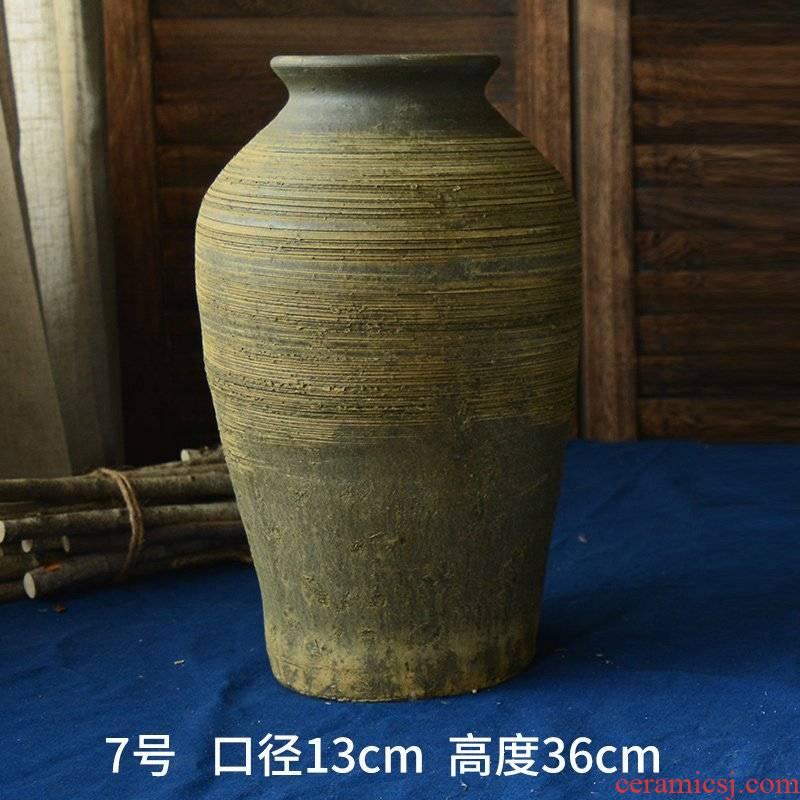 Large vases, flower implement ceramic flower arranging high mesa to restore ancient ways do old flower implement coarse some ceramic jar of earthenware