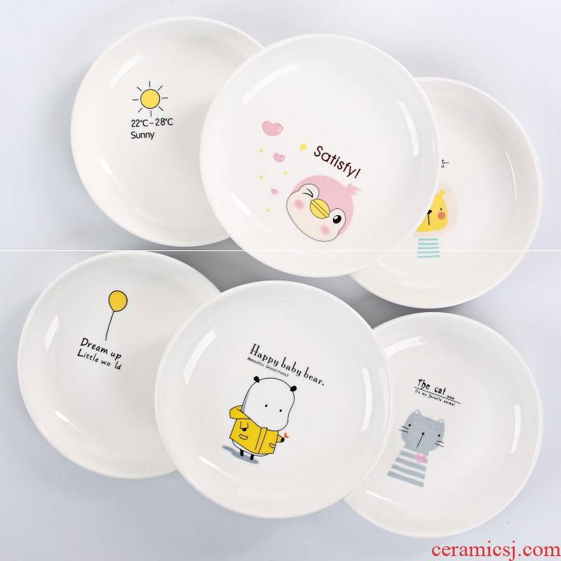 6 cm in fruit garbage 15 inches deep dish cake round small plate to vomit ipads plate household table ceramic plate