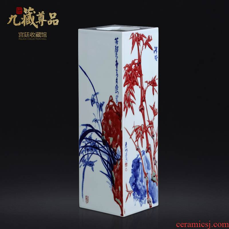 Jingdezhen blue and white youligong dong - Ming li hand - made ceramics with Chinese style living room porch vase decoration furnishing articles