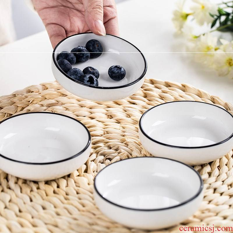 Northern wind only 4/6 ceramic snack creative household dip round flavor dish deep dish pot dishes square. A plate