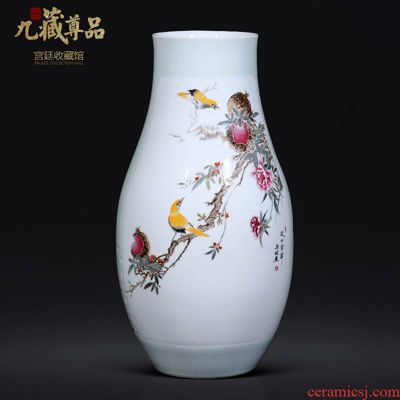 The Master of jingdezhen ceramics hand - made pomegranate vase Chinese sitting room porch TV ark, decoration as furnishing articles