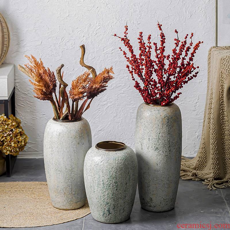 Jingdezhen ceramic vase landing size furnishing articles decoration indoor simulation European household ceramics from the living room