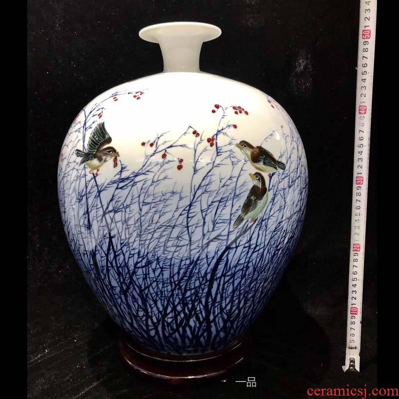 Jingdezhen hand - made 50 to 60 cm high yipin hand - made vases sitting room furnishings vase