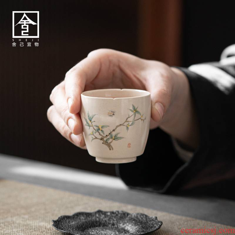 "The Self - ""appropriate content master cup sample tea cup of jingdezhen ceramic cups retro hand - made kung fu tea cup kunfu tea"
