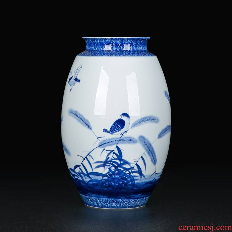 Vase furnishing articles flower arranging ceramic Vase household adornment large sitting room jingdezhen porcelain Vase, table light and decoration