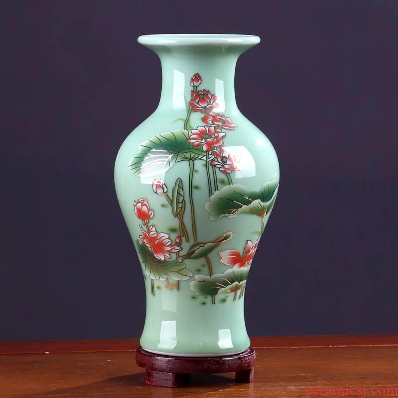 Floret bottle furnishing articles sitting room color glaze jingdezhen ceramics flower arranging new Chinese style table light key-2 luxury home decorations