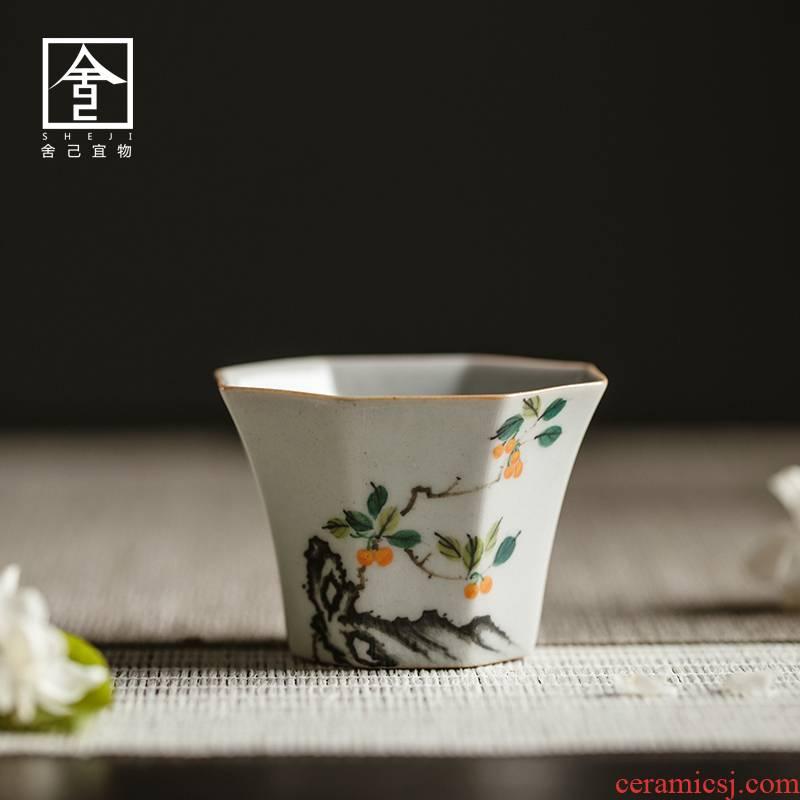 """The Self - """"appropriate material sample tea cup of jingdezhen ceramic cups hand - made retro mix small single CPU kunfu tea tea cups"""