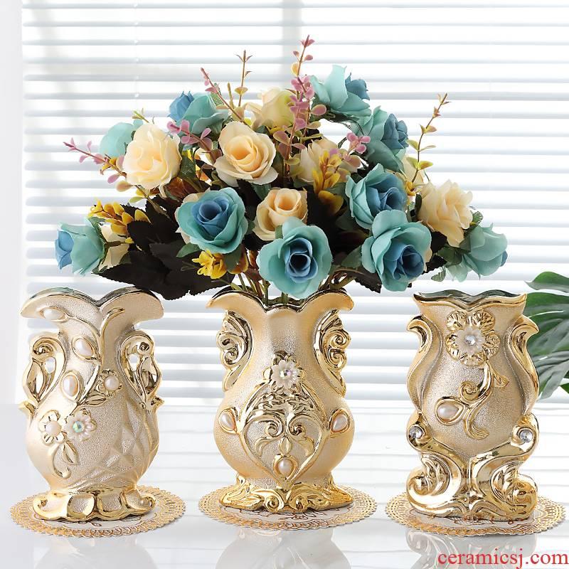 Ou send bottle mat 】 【 ceramic vases, flower arrangement sitting room table mesa place vase decoration ideas simulation