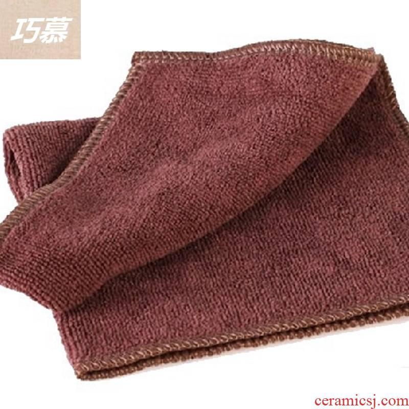 Qiao mu tea towel tea accessories zero matchs tea tea purple sand pot of tea towel bibulous tea towel