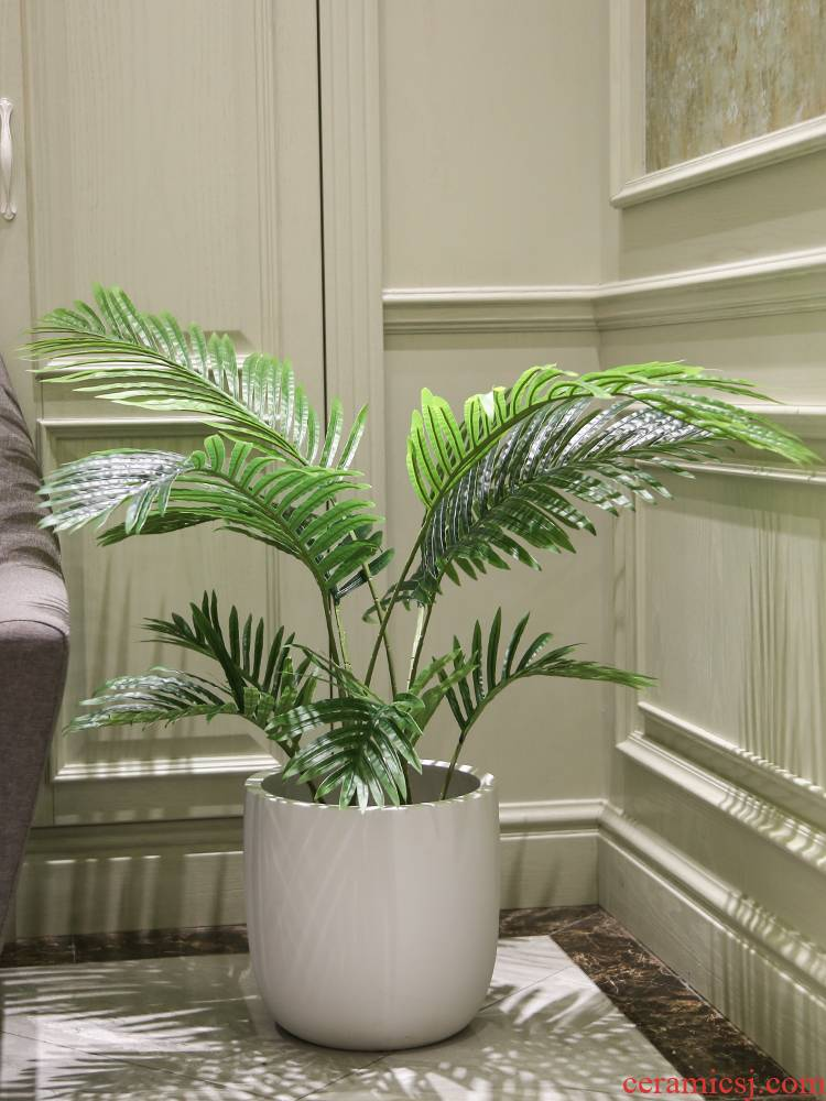 Artificial the plants traveler banana ground ceramic flower pot ins wind flowers sitting room adornment fake green plant in northern wind bonsai tree