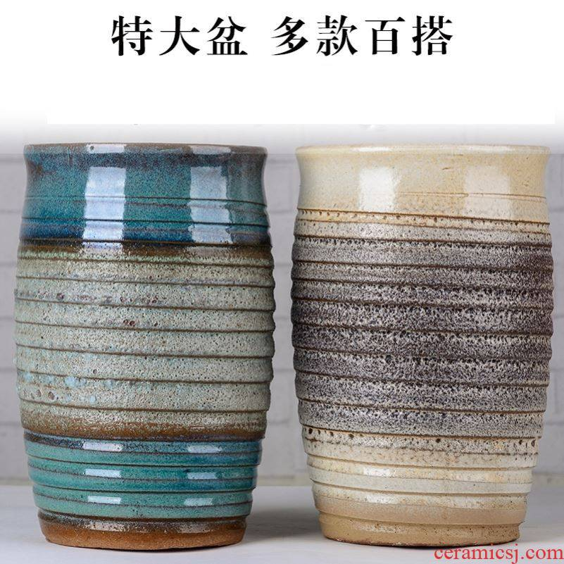 Is suing coarse pottery basin rose more meat flowerpot high spell the old running the tuba basin of large diameter zen restoring ancient ways China fall to the ground