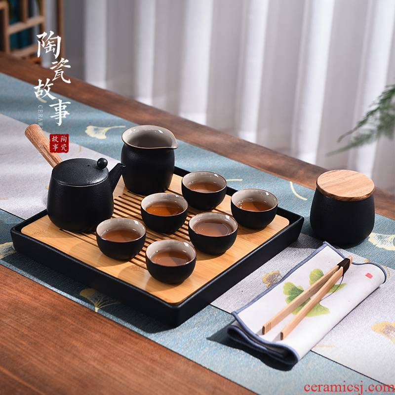 The Story of pottery and porcelain tea set suit small home sitting room tea tray teapot tea tea light key-2 luxury box kung fu tea set