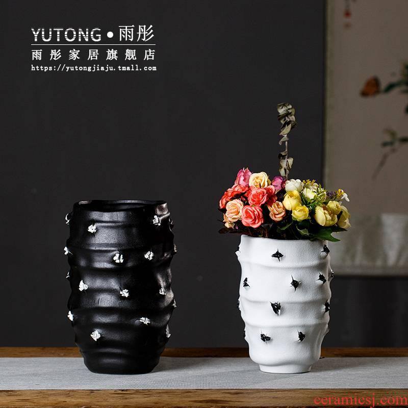 Red light rain much wind ceramic vase villa between example ceramic vase sitting room place vase suits for
