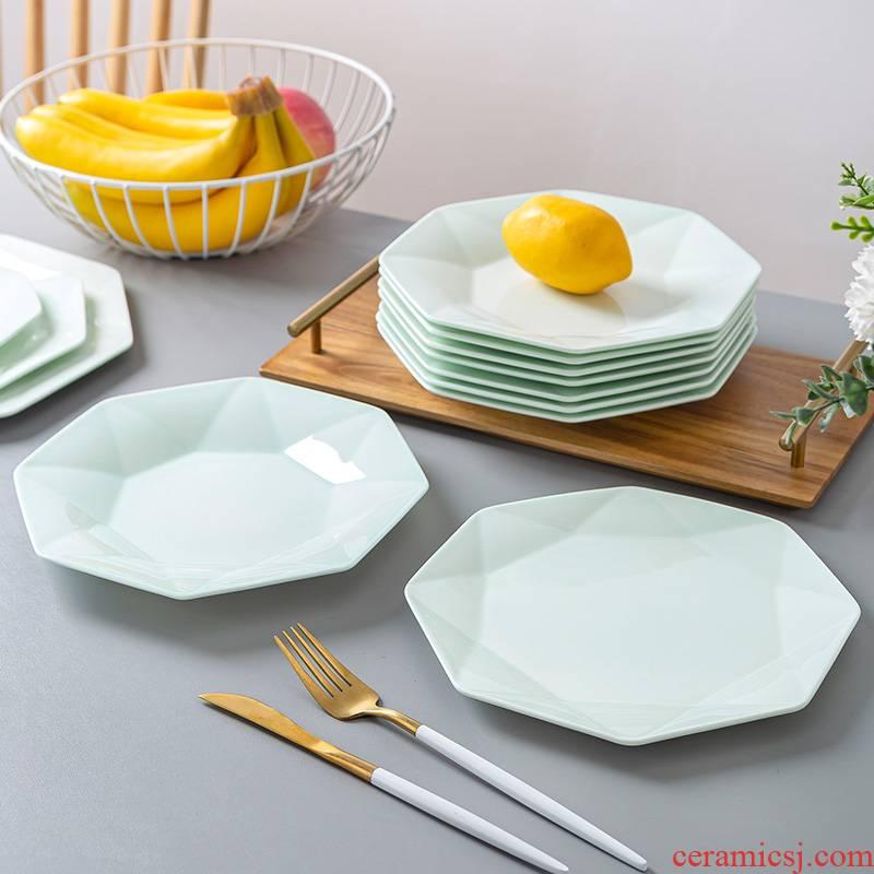 Jingdezhen celadon deep dish creative web celebrity ceramic disc continental plate household creative ipads porcelain anise tableware 0