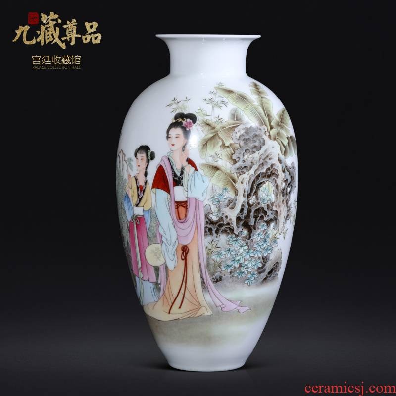 Jingdezhen ceramic dong - Ming li hand - made pastel had Chinese vase sitting room porch TV ark, flower arranging furnishing articles