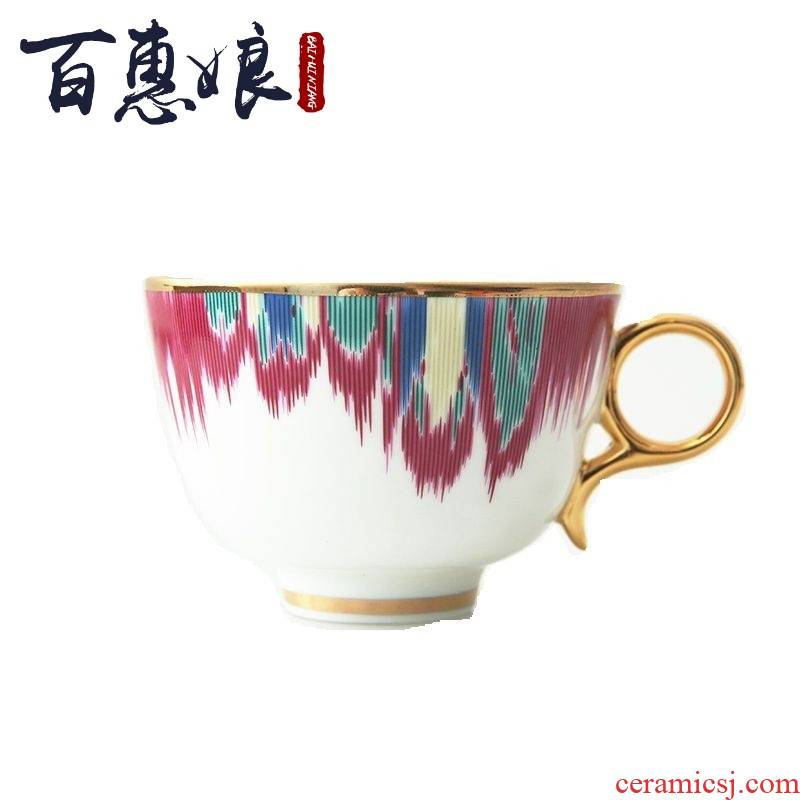 24 k gold (niang creative design manual tracing ipads China abstract coffee cup red cup dish suits for in the afternoon