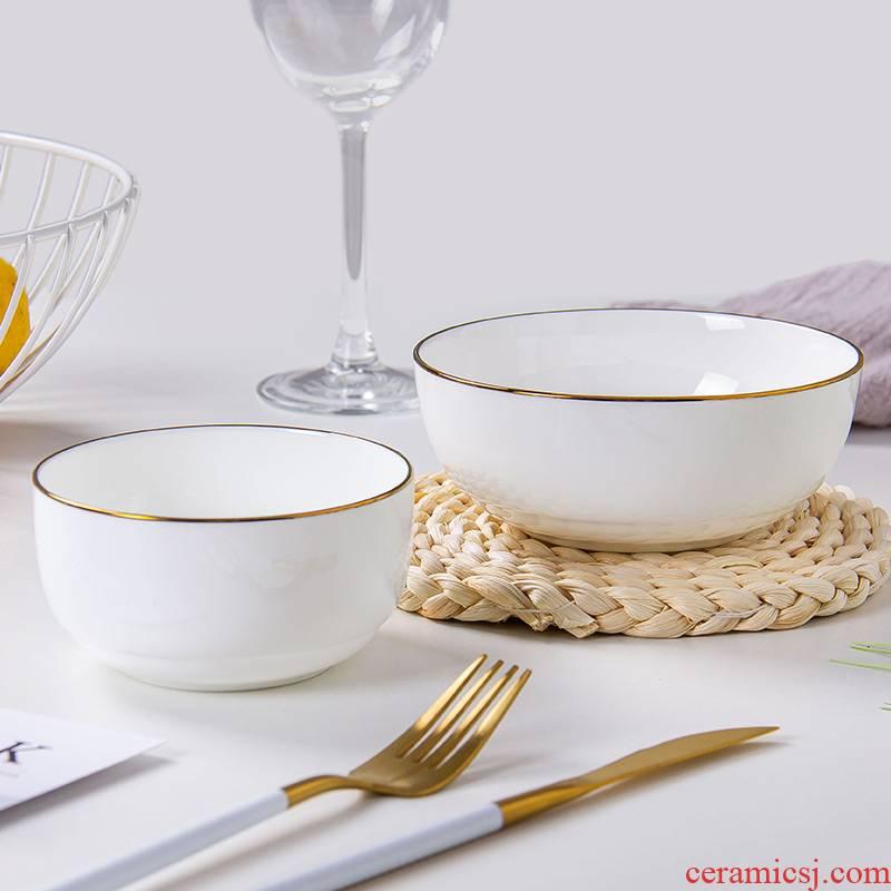 4.5 inch up Phnom penh ipads porcelain household Korean individual white porcelain bowl of jingdezhen ceramic tableware rainbow such as bowl bowl soup bowl