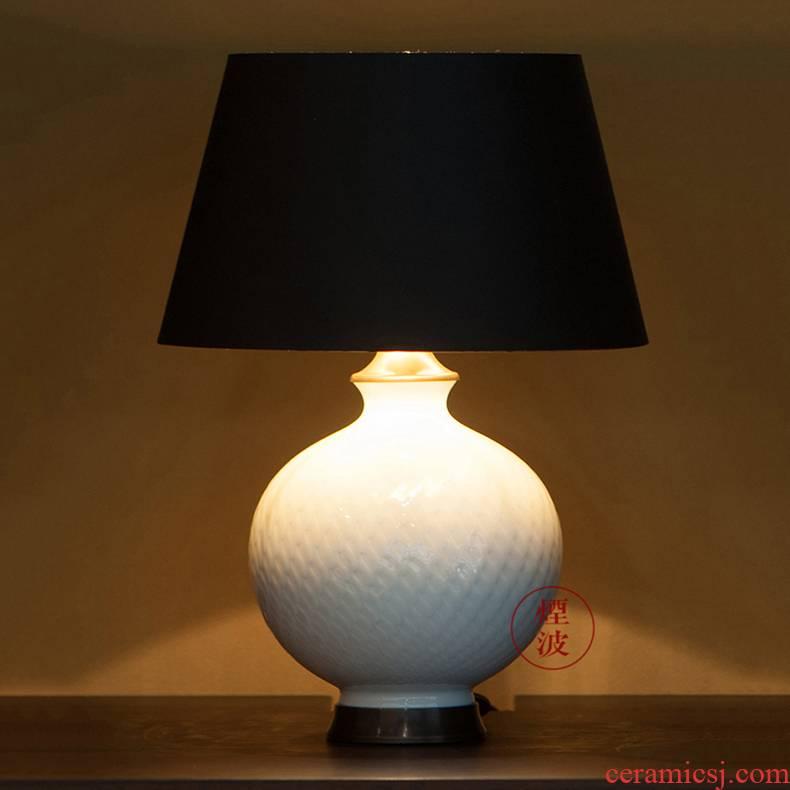 German mason MEISSEN porcelain magic wavy white desk lamp home furnishing articles