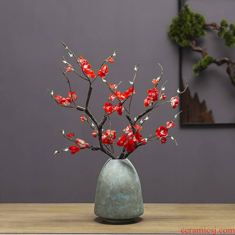 New Chinese style table jingdezhen ceramics vase son crafts TV ark, dried flowers, flower arrangement sitting room adornment is placed