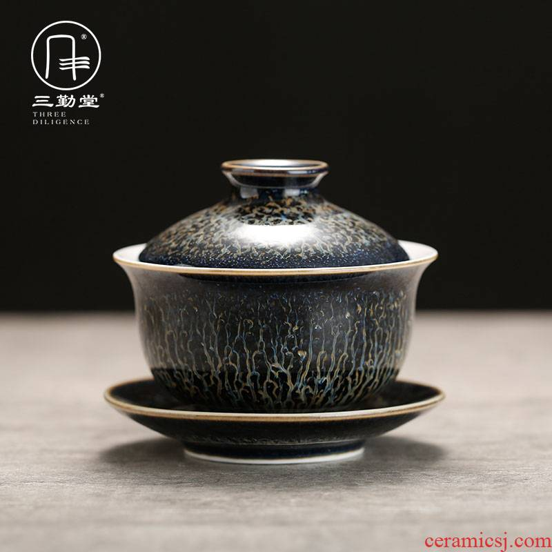 The three frequently tureen kung fu tea tea ware jingdezhen ceramics up three cups to use suit S11036