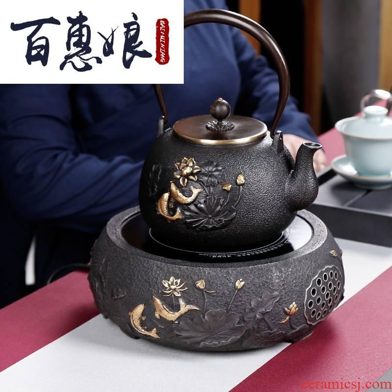 (niang electric TaoLu boiling tea stove iron pot of tea kettle kung fu tea kettle household suit small desktop
