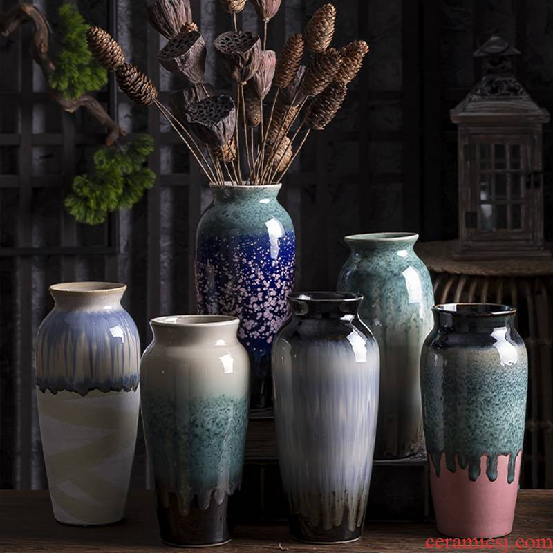 Water raise vases, ceramic small and pure and fresh flower implement creative mini furnishing articles sitting room dry flower arranging flowers hydroponics household ornaments