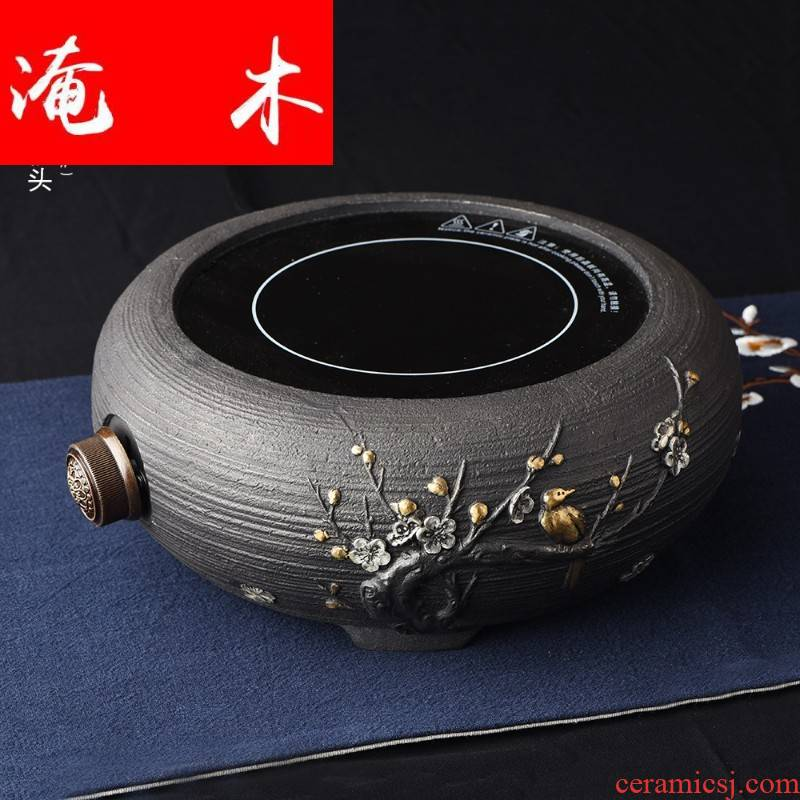 Flooded iron wood Japan.mute high - power electric TaoLu household manual tea quickly burn boiled tea, induction cooker