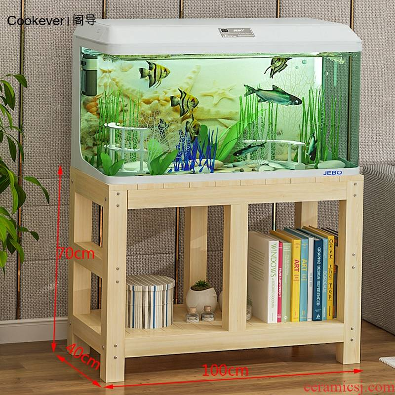 Aquarium tank bottom ark cabinet shelf base table cylinder plant order more solid wood