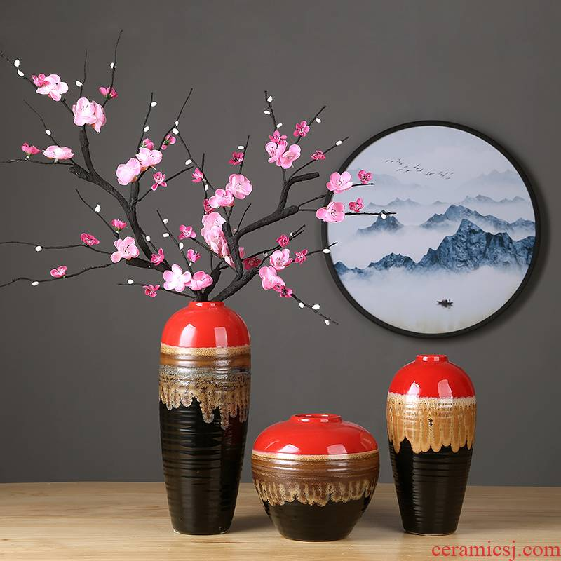 Insert jingdezhen ceramic vase furnishing articles sitting room porch mesa of new Chinese style home decoration ceramic vase