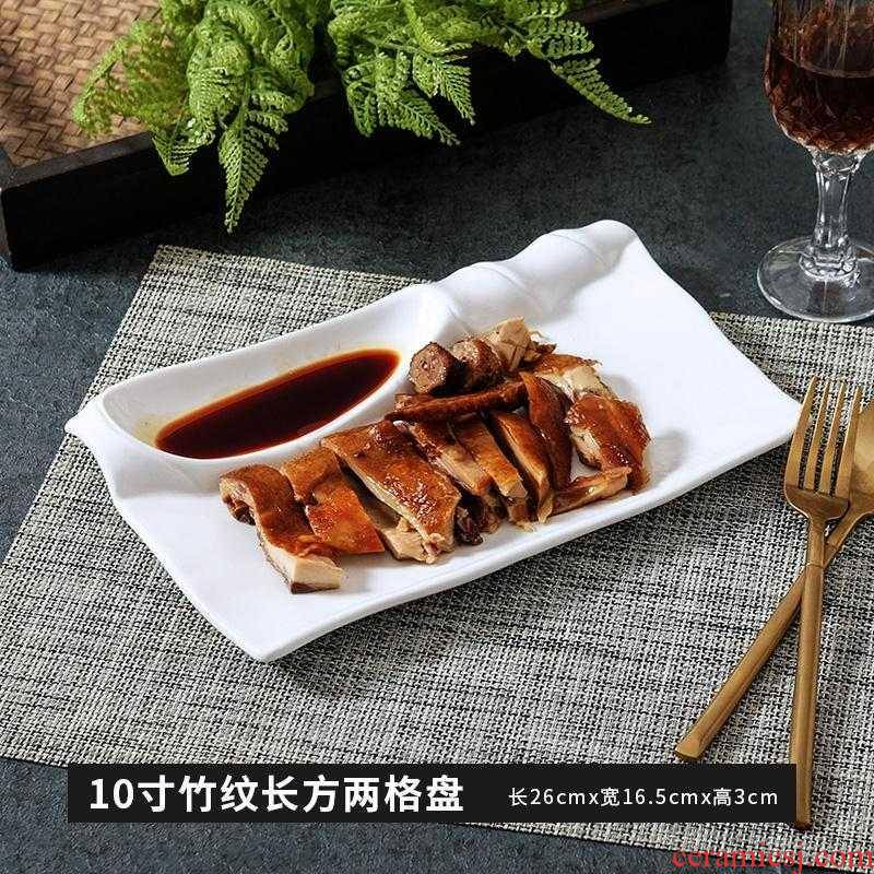 Plate special restaurant ceramic hotel supplies catering kitchen modelling of pure white tableware creative cuisine