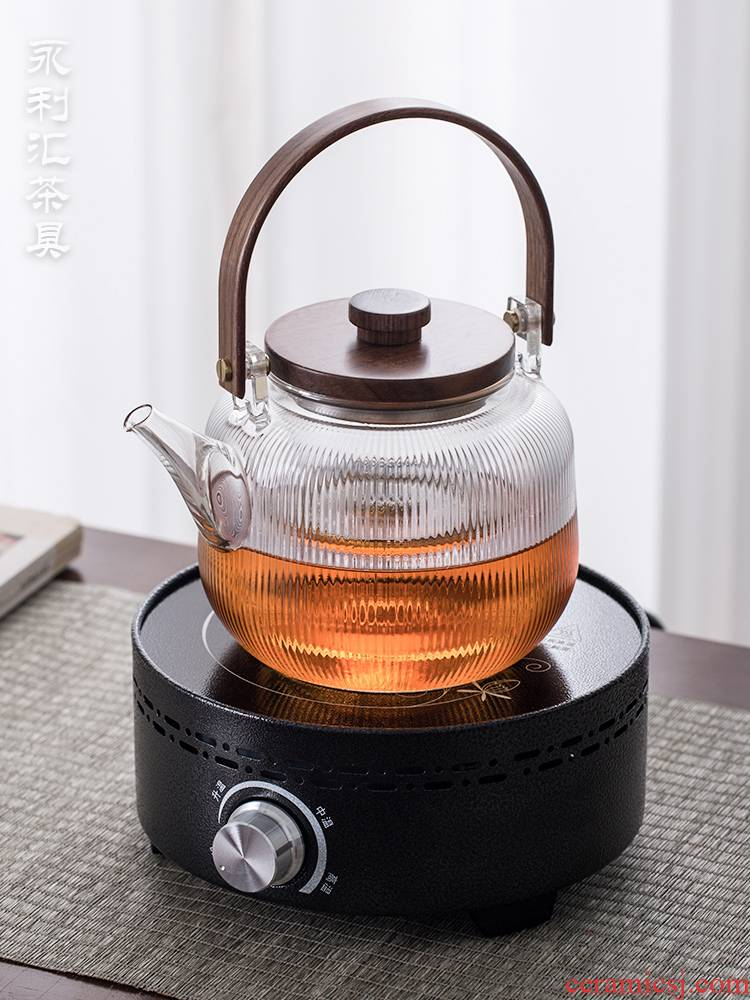 Electric TaoLu boiling tea suit small tea stove to boil tea ware glass teapot web celebrity steaming kettle single pot cooking