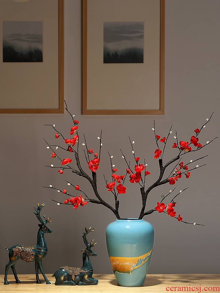 Jingdezhen ceramics, vases, flower arranging new Chinese style porch sitting room tea table table modern home furnishing articles