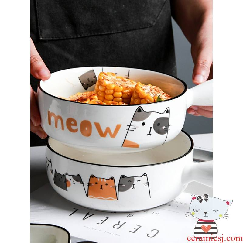 Baking oven dedicated ears for FanPan ceramic home girl express cat granola small single handle to use