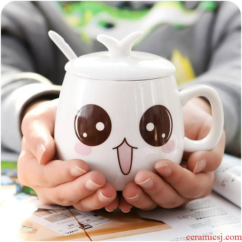 Take tao to Take home. Mark cup coffee cup express cartoon children cover cup cup cup spoon set of CPU
