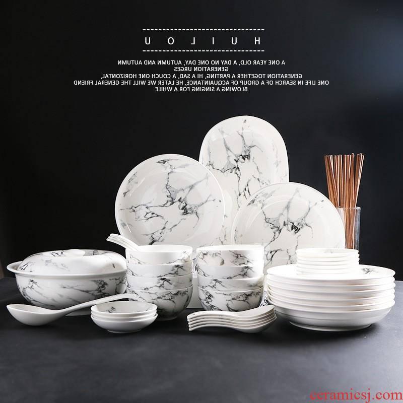 The kitchen manufacturers shot Japanese ceramics tableware household jobs fish dish soup pot bowl dish dish gift set tableware