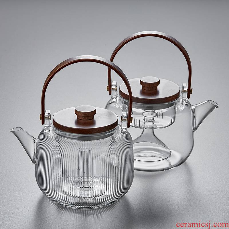 Steam glass girder boil the teapot curing pot steamed household pumping the kettle boiled tea, the electric TaoLu boil tea