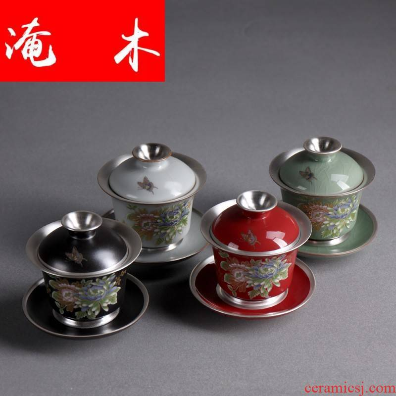 Submerged wood sterling silver 99 manual coppering. As grilled silver tureen ceramic three silver bowl with kung fu tea tea for worship