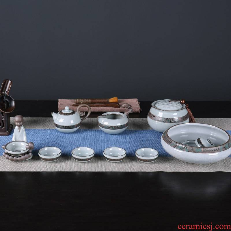 Creative character filtering network frame for elder brother up with ceramic opportunely your up) kung fu tea accessories tea home