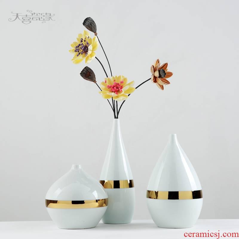 Nordic light and decoration ceramics floret bottle furnishing articles sitting room TV cabinet dry flower arranging flowers zen flower implement I and contracted porcelain