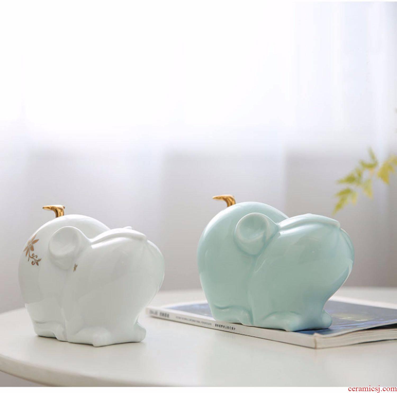 Chinese zodiac mice ceramic furnishing articles furnishing articles xiangyun mice mascot plutus household geomantic