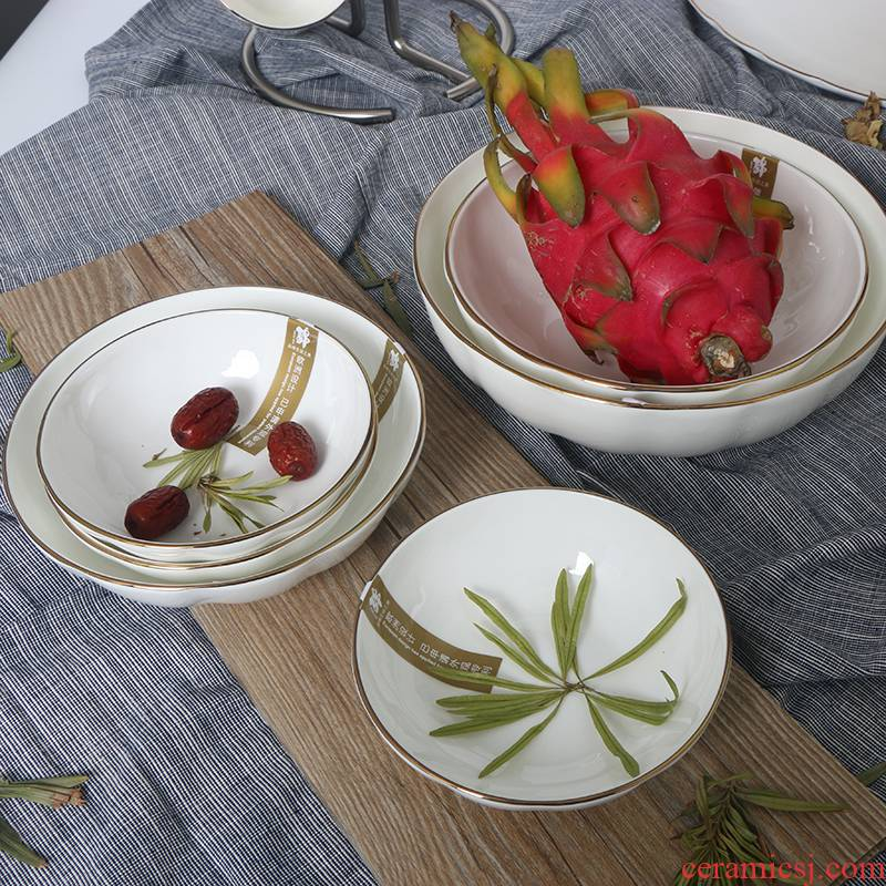 Utsuwa brand taste ipads porcelain tableware European - style up phnom penh job rainbow such as bowl Nordic home cooking pan deep dish west shallow bowl